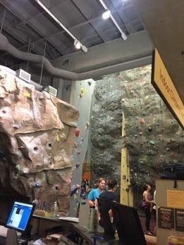Climbing wall at OSU